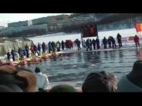 Открытие 1-го Чемпионата Мира по ледяному плаванию. Мурманск, 2015
